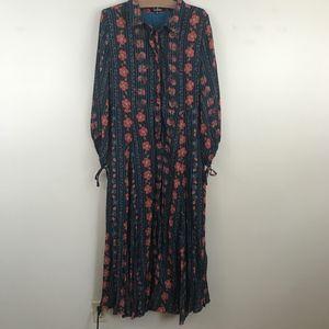 Lulus Long Sleeve Oversized Flowy Floral Dress
